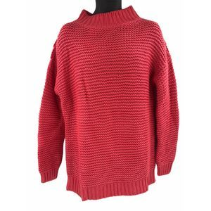 French Connection Balloon Sleeve HighLow Sweater L